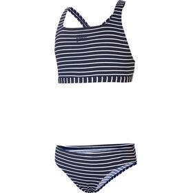 speedo Essential Endurance+ Medalist Bikini Girls 2020 stripe navy/white